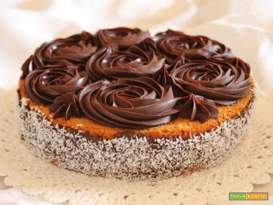 Torta freschissima cocco e cioccolato