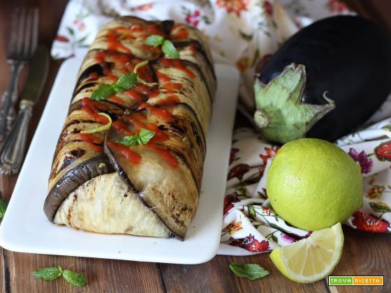 Sformato di melanzane cous cous e datterini senza forno