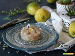 Tartare di branzino con limone e sale al tartufo bianco