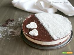 Cheesecake al cocco e cioccolato – torta fredda