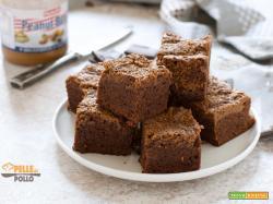 Brownies al cioccolato variegati al burro di arachidi