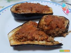 Barchette di melanzane con tonno