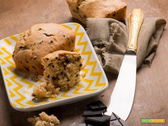 Mini plumcake con gocce di cioccolato per una merenda da campioni