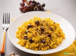 """Risotto giallo con uva e pistacchi: un'""""insolita"""" prelibatezza, tutta da provare!"""