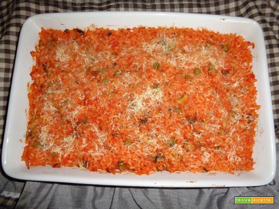 Ricetta – Riso al forno con funghi e salsiccia