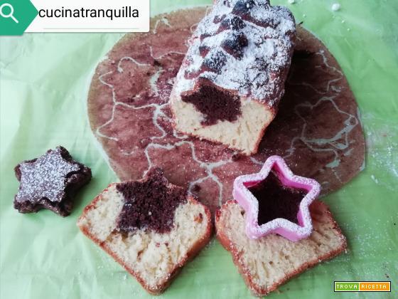 Plumcake con stella al cacao