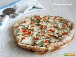 Pizza alla parmigiana bianca
