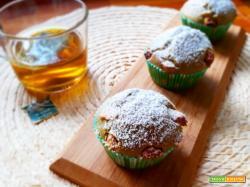 Muffins con tè Matcha e cioccolato bianco