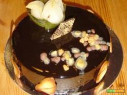 Torta di pere al cioccolato