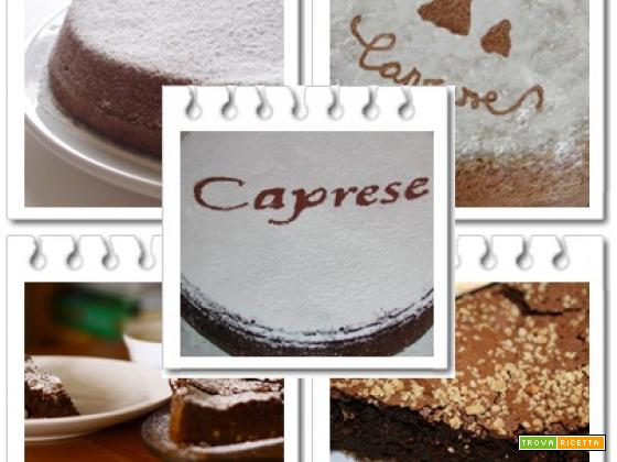La torta caprese, foto e video ricetta