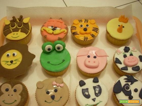 Una raccolta di cupcakes con gli animali di Elisa