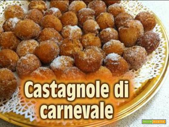 Castagnole con ricetta