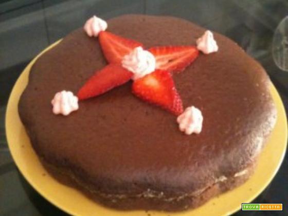 Torta negretto con fragole