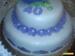 Ricetta torta compleanno 40 anni