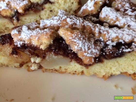 Ricetta Crostata Cioccolato e Pere