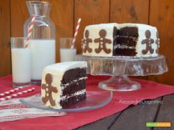 Ricetta della torta al cioccolato con cheese cream di Alessandra