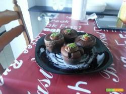 Ricetta Muffin al Cacao e Fragole di Federica