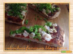 Ricetta Pizza Estiva con Gamberetti
