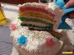 Ricetta Raimbow Cake
