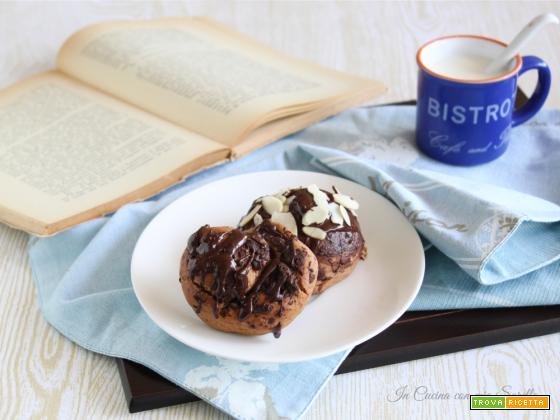 Girelle alla nutella glassate al cioccolato