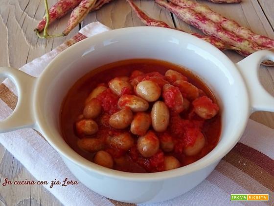 Fagioli borlotti freschi al pomodoro