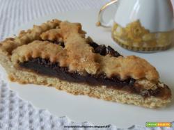 Crostata integrale con marmellata di arancia e cioccolato
