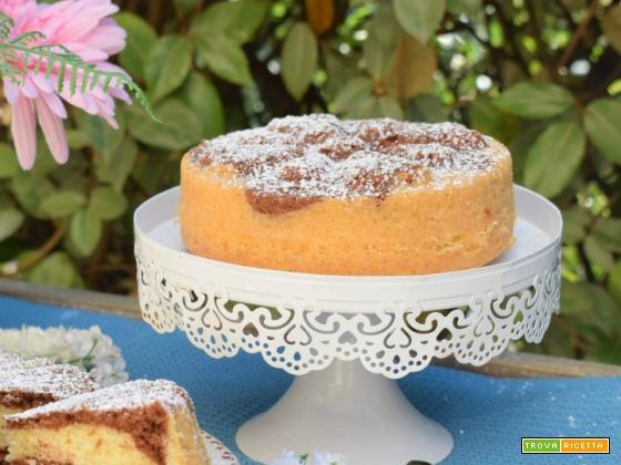 Chiffon Cake alla panna e cioccolato