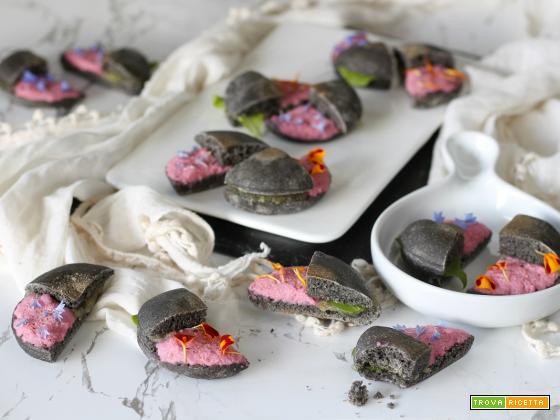 Spunciotti con stoccafisso in rosa e mostarda veneta