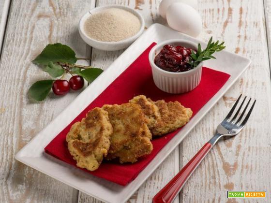 Polpette di fonio con chutney di ciliegie, un piatto vegetariano agrodolce
