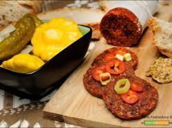 Salsiccia vegana in versione RAW molto semplice