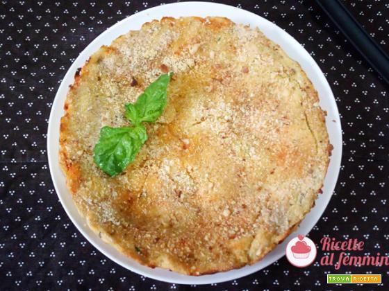 Pizza di patate con pomodoro e mozzarella senza glutine