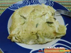 Lasagna agli asparagi e pane carasau