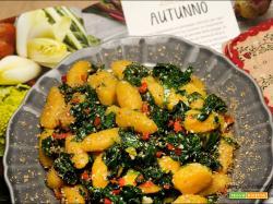 Gnocchi di Butternut con Kale,spinaci e Jalapeno rosso