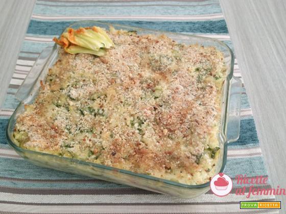 Timballo di riso e zucchine al forno