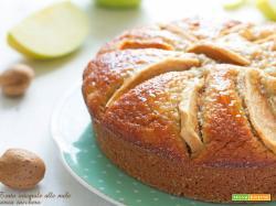 Torta integrale mele e mandorle senza zucchero