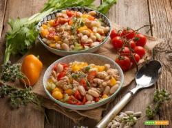 Insalata di fagioli e peperoni, un contorno nutriente e gustoso