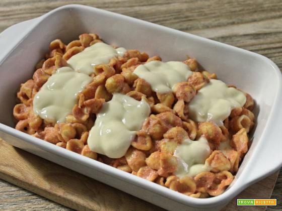 Orecchiette al forno con ricotta, pomodoro e mozzarella