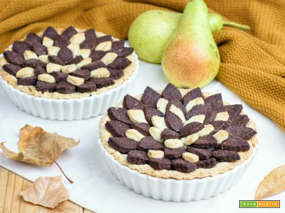 Crostata bicolore con crema di Ricotta Pere e Cioccolato