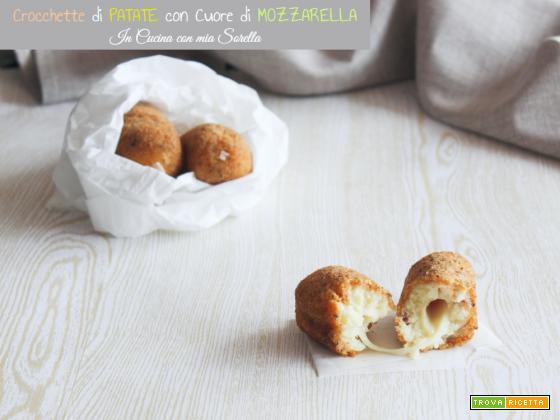 Crocchette di patate con cuore di mozzarella
