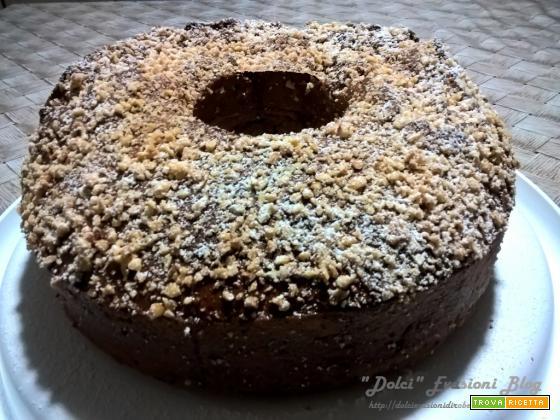 Ciambellone con cioccolato e nocciole di Marco Bianchi - mia variante