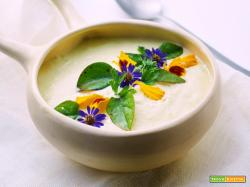 nell'ombra – grano saraceno e lenticchie con vellutata di porri alle mandorle