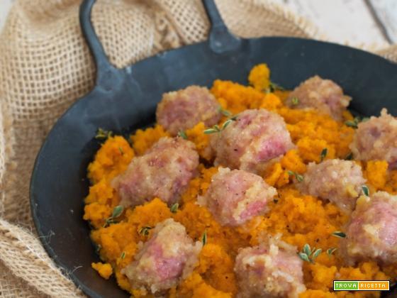 Polpettine con purè di carote col Bimby