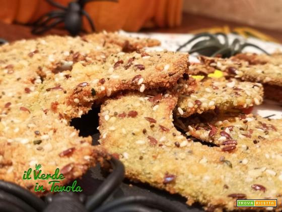 Mezzelune di zucca con impanatura golosa cotte al forno la ricetta