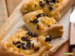 Focaccia con baccalà, patate e olive nere. Cos'altro possiamo desiderare?