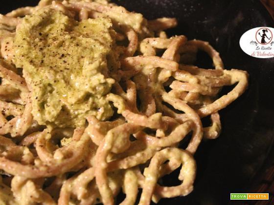 worldpastaday: spaghetti alla chitarra integrali Maffei con pesto di broccoli