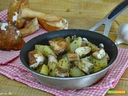 Funghi porcini e patate in padella velocissimi