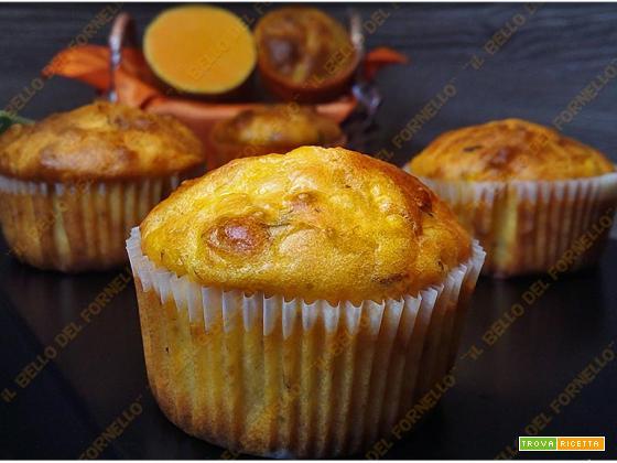 Muffin salati con zucca e crema tartufata di funghi