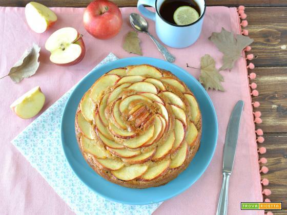 Torta di mele con farina integrale e mandorle