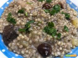 Saracenotto con funghi e patate col CuCo Moulinex (il risotto fatto col grano saraceno)