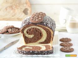 Pan brioche variegato al cacao e Pan di Stelle